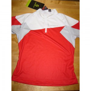 KOSZULKA SCOTT BOYS JR RED/WHITE ROZ.140