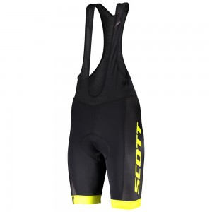 SPODENKI SCOTT BIB RC TEAM BLACK/YELLOW ROZ.M 2020