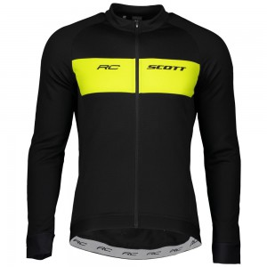 KOSZULKA SCOTT RC WARM L/SL BLK/YELL ROZ.M 2020